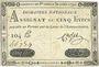 Banknotes Assignat. 5 livres. 30 avril 1792. Signature : Corsel