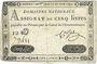 Banknotes Assignat. 5 livres. 31 juillet 1792. Signature : Corsel