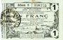 Banknotes Aisne, Ardennes et Marne - Bon régional. Hirson. Billet. 1 franc 12.12.1917, série 5