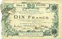 Banknotes Aisne, Ardennes et Marne - Bon régional. Hirson. Billet. 10 francs 12.12.1917, série 4