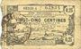 Banknotes Aisne, Ardennes et Marne - Bon régional. Hirson. Billet. 25 cmes 14.6.1917, série 1