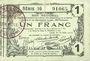 Banknotes Aisne, Ardennes et Marne - Bon régional. Laon. Billet. 1 franc 16.6.1916, série 16