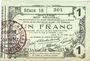Banknotes Aisne, Ardennes et Marne - Bon régional. Laon. Billet. 1 franc 16.6.1916, série 18