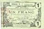 Banknotes Aisne, Ardennes et Marne - Bon régional. Laon. Billet. 1 franc 16.6.1916, série 5