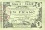 Banknotes Aisne, Ardennes et Marne - Bon régional. Laon. Billet. 1 franc 16.6.1916, série 8