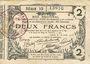 Banknotes Aisne, Ardennes et Marne - Bon régional. Laon. Billet. 2 francs 16.6.1916, série 10
