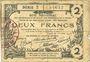 Banknotes Aisne, Ardennes et Marne - Bon régional. Laon. Billet. 2 francs 16.6.1916, série 3