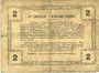Banknotes Aisne, Ardennes et Marne - Bon régional. Laon. Billet. 2 francs 16.6.1916, série 4