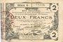 Banknotes Aisne, Ardennes et Marne - Bon régional. Laon. Billet. 2 francs 16.6.1916, série 6