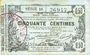 Banknotes Aisne, Ardennes et Marne - Bon régional. Laon. Billet. 50 cmes 16.6.1916, série 10