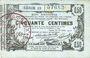 Banknotes Aisne, Ardennes et Marne - Bon régional. Laon. Billet. 50 cmes 16.6.1916, série 13