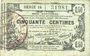 Banknotes Aisne, Ardennes et Marne - Bon régional. Laon. Billet. 50 cmes 16.6.1916, série 14