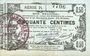 Banknotes Aisne, Ardennes et Marne - Bon régional. Laon. Billet. 50 cmes 16.6.1916, série 24