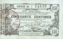 Banknotes Aisne, Ardennes et Marne - Bon régional. Laon. Billet. 50 cmes 16.6.1916, série 29