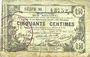 Banknotes Aisne, Ardennes et Marne - Bon régional. Laon. Billet. 50 cmes 16.6.1916, série 30