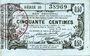 Banknotes Aisne, Ardennes et Marne - Bon régional. Laon. Billet. 50 cmes 16.6.1916, série 35
