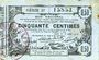 Banknotes Aisne, Ardennes et Marne - Bon régional. Laon. Billet. 50 cmes 16.6.1916, série 37
