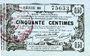 Banknotes Aisne, Ardennes et Marne - Bon régional. Laon. Billet. 50 cmes 16.6.1916, série 38