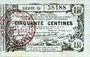 Banknotes Aisne, Ardennes et Marne - Bon régional. Laon. Billet. 50 cmes 16.6.1916, série 39