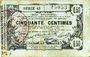 Banknotes Aisne, Ardennes et Marne - Bon régional. Laon. Billet. 50 cmes 16.6.1916, série 43
