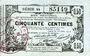 Banknotes Aisne, Ardennes et Marne - Bon régional. Laon. Billet. 50 cmes 16.6.1916, série 44