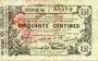 Banknotes Aisne, Ardennes et Marne - Bon régional. Laon. Billet. 50 cmes 16.6.1916, série 45