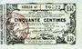 Banknotes Aisne, Ardennes et Marne - Bon régional. Laon. Billet. 50 cmes 16.6.1916, série 47