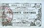 Banknotes Aisne, Ardennes et Marne - Bon régional. Laon. Billet. 50 cmes 16.6.1916, série 7