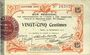 Banknotes Aisne et  Ardennes. Bon régional. Laon. Billet. 25 centimes 19.9.1915. 4e série