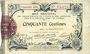 Banknotes Aisne et  Ardennes - Bon régional, Laon, billet, 50 cmes 19.9.1915, 5e série