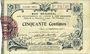 Banknotes Aisne et  Ardennes - Bon régional, Laon, billet, 50 cmes 19.9.1915, 6e série