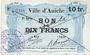 Banknotes Aniche (59). Ville. Billet. 10 francs 1915, 2e série