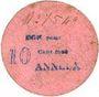 Banknotes Anneux (59). Mairie. Billet. 10 cent