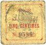 Banknotes Anor (59). Commune. Billet. 5 cmes, numéro à 4 chiffres