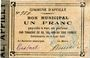Banknotes Appilly (60). Commune. Billet. 1 franc 4.8.1914