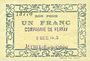 Banknotes Auchel (62). Compagnie Ferfay. Billet. 50 cmes 3.12.1915