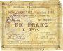 Banknotes Auchy-les-Orchies (59). Commune. Billet. 1 franc 15.11.1914 (émission 1914)