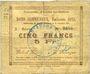 Banknotes Auchy-les-Orchies (59). Commune. Billet. 5 francs 15.11.1914 (émission 1915)