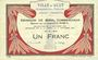 Banknotes Ault (80). Ville. Billet. 1 franc 15.9.1914