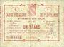 Banknotes Avesnes (59). Caisse d'Epargne et Prévoyance. Billet. 1 franc, série 1