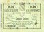 Banknotes Avesnes (59). Caisse d'Epargne et Prévoyance. Billet. 50 cmes n. d.