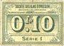 Banknotes Avesnes (59). Société des Bons d'Emission. Billet. 10 cmes n. d., série 1