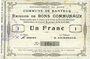 Banknotes Banteux (59). Commune. Billet. 1 franc 22.8.1915