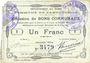 Banknotes Bantouzelle (59). Commune. Billet. 1 franc 20.6.1915, 2e série