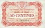 Banknotes Bar-le-Duc (55). Chambre de Commerce. Billet. 50 cmes 1.9.1917