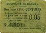 Banknotes Basuel (59). Commune. Billet. 5 cmes