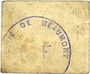 Banknotes Beaumont (59). Mairie. Billet. 10 centimes