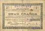 Banknotes Becquigny (02). Commune. Billet. SQG, 2 francs du 8.8.1916
