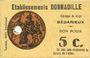 Banknotes Bedarieux (34). Etablissements Donnadile. Fabrique de draps. 5 cmes