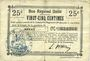 Banknotes Benay (02). Commune. Billet. B.R.U., 25 cmes